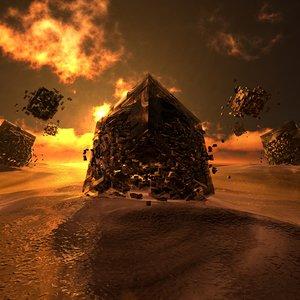 3D strange desert environment model