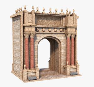 classic arch gate 3D model