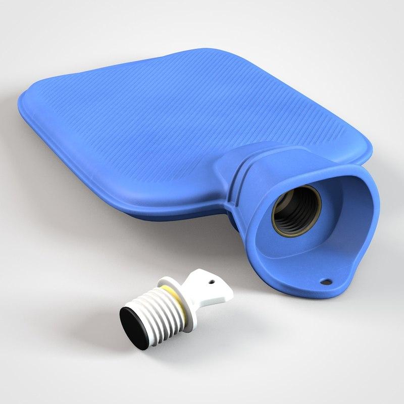 3D model hot water bottle