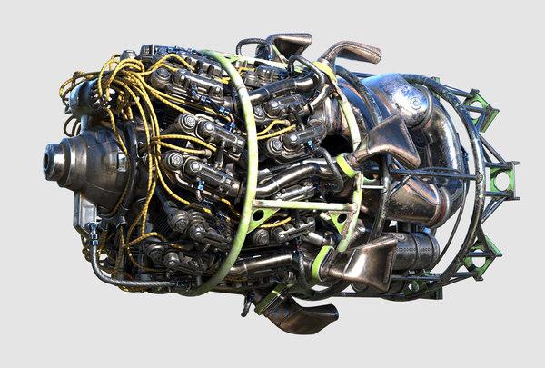 3D engine radial