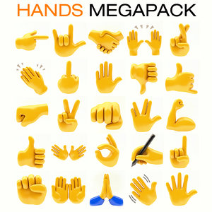 emoji hands megapack model