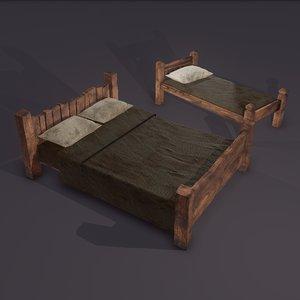 3D medieval beds
