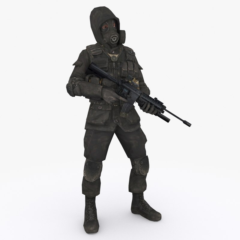 3D model special forces type 1