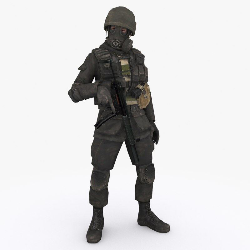 3D special forces type 3 model