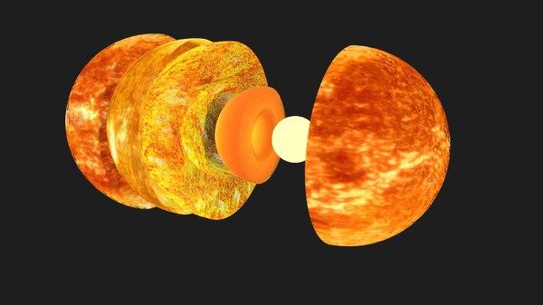 sun structure animation 3D model