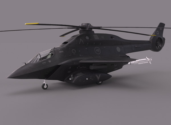 futuristic helicopter model