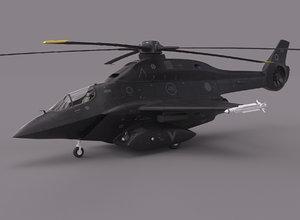 futuristic helicopter model