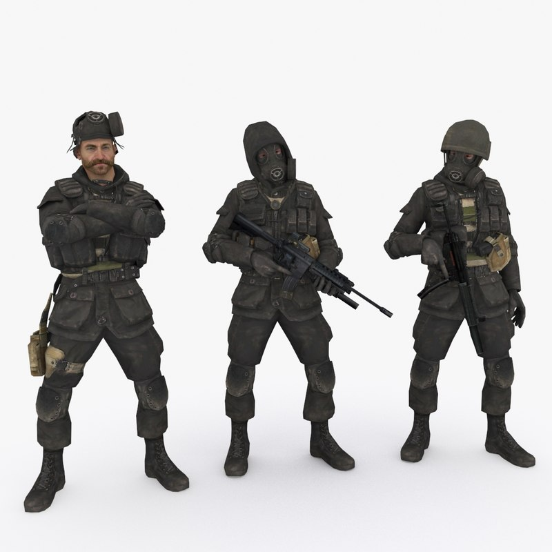 3D model 3 special forces type