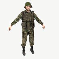 soldier russian 3D model