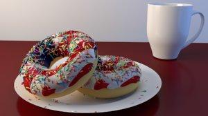usa flag donuts mug 3D