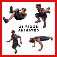 3D gym squat bicep