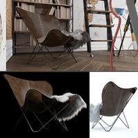 3D butterfly chair diy model