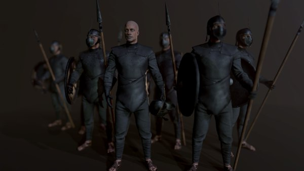 unsullied warrior 3D model