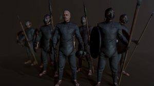 unsullied warrior 3D model