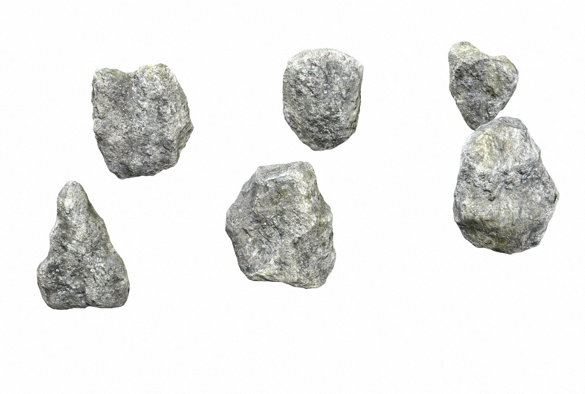 rocks pbr model