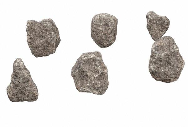 pack rocks pbr 3D