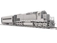 Treno locomotivo con carro
