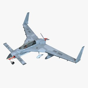 rutan long-ez aircraft 3D model