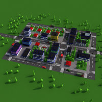 3D cartoon city