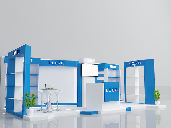 exhibition booth stand model