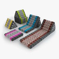 thai mattress 01 3D