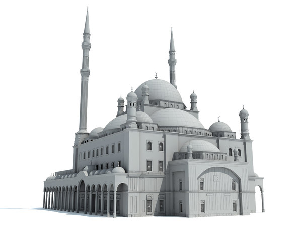 3d model mohamed ali mosque