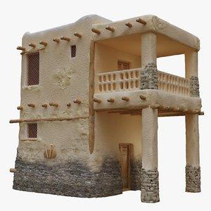 3D old arabic islamic house model