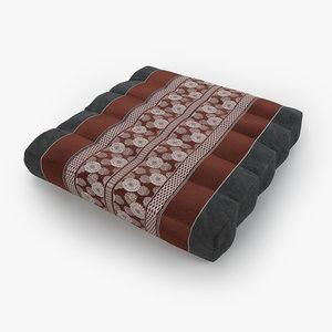 3D model thai mattress pillow red