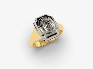 3D ring jesus