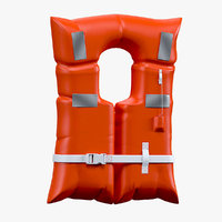 life saving jacket 3D