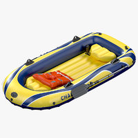 inflatable boat intex challenger 3D model