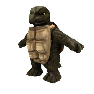 turtle monster 3D model