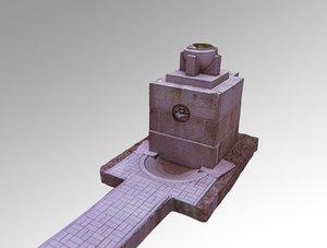 monument terror russia 3D model