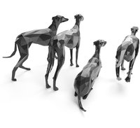 Dogs Whippet LowPoly