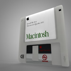 apple macintosh floppy disk 3D model