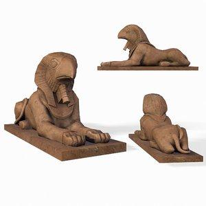 statue horus sphinx model