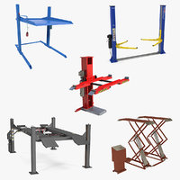 Car Lifts 3D Models Collection 3
