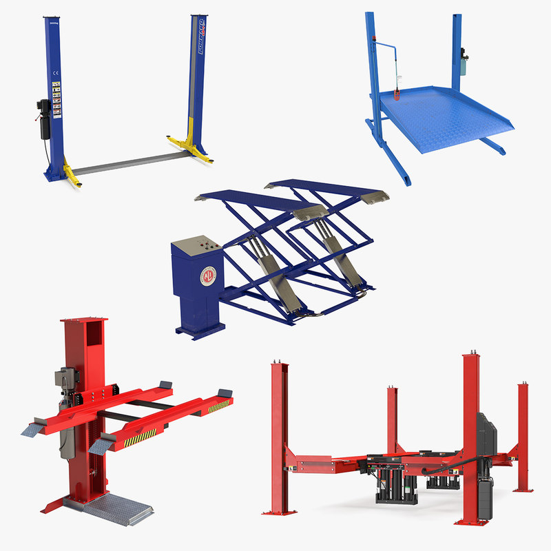 3D car lifts 3 model