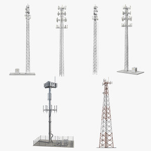 cellular towers 2 cell 3D model