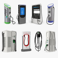 3D electric vehicle chargers 4 model
