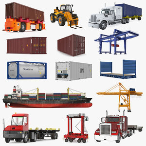 equipment containers 3 3D model