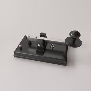 telegraph key 3D model