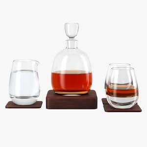 3D whisky set decanter model