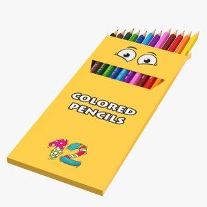 pencils box 3D model