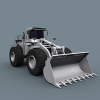 3D model mining loader - vehicle animation