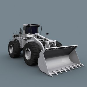3D model mining loader - vehicle animation