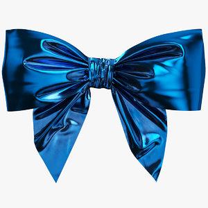 3D model blue bow 02