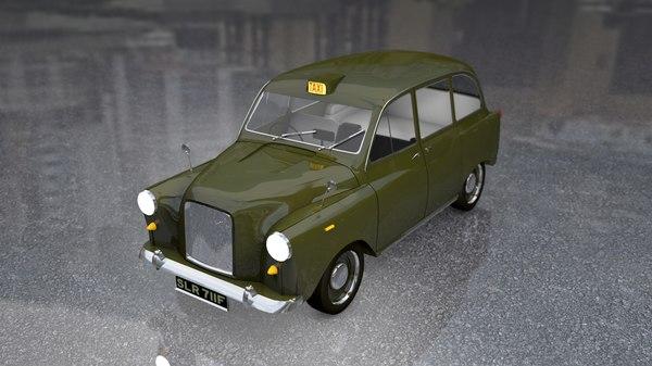 english london taxi cab 3D model
