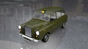 english london taxi cab 3D model