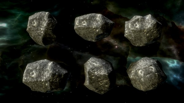 3D small asteroids model